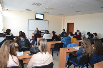 Открита лекция за ученици във ВУСИ