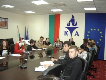Студентският съвет на КИА взе участие в семинар на МФПМВ на Община Пловдив