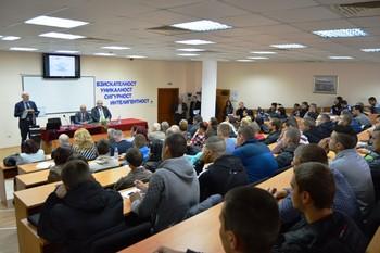 Председателят на АИКБ Васил Велев с майсторски клас във ВУСИ