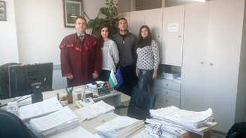 Студенти на ВУСИ на стажове в Районна прокуратура – Пловдив