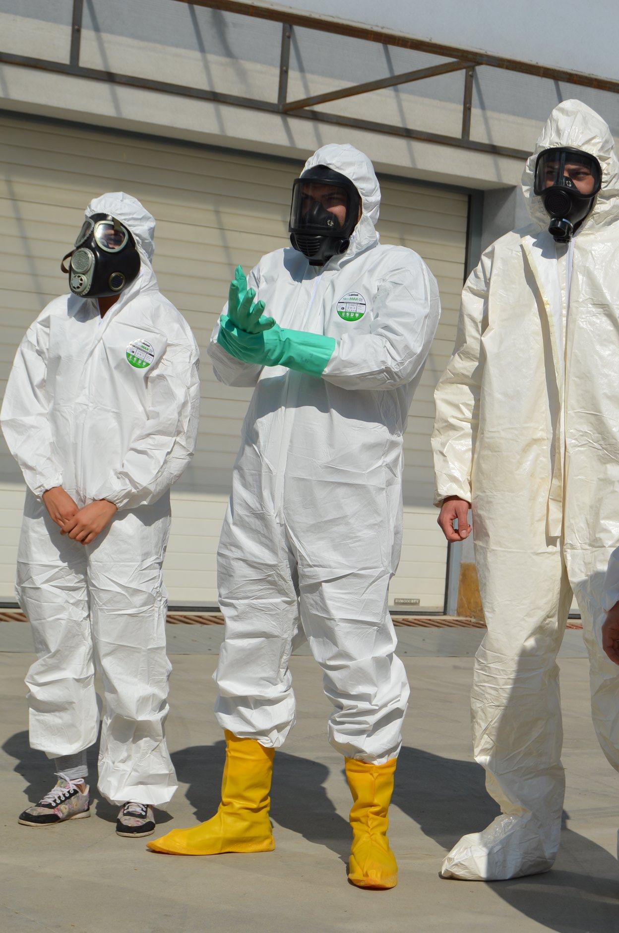 """Практически занятия в """"Национална сигурност"""" - Защитни облекла 0013"""