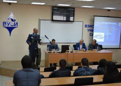 Бригаден генерал Явор Матеев с публична лекция във ВУСИ-5