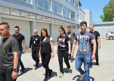 """Практически занятия на студенти от """"Национална сигурност"""" - стрелба с пистолет и охрана 0012"""
