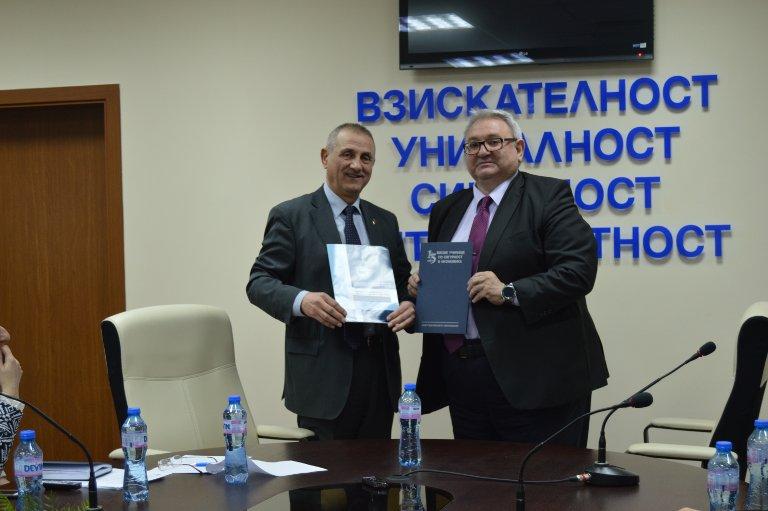 Договор за сътрудничество между Висшето училище по сигурност и икономика (ВУСИ) и Националната асоциация на фирмите за търговска сигурност и охрана (НАФТСО)